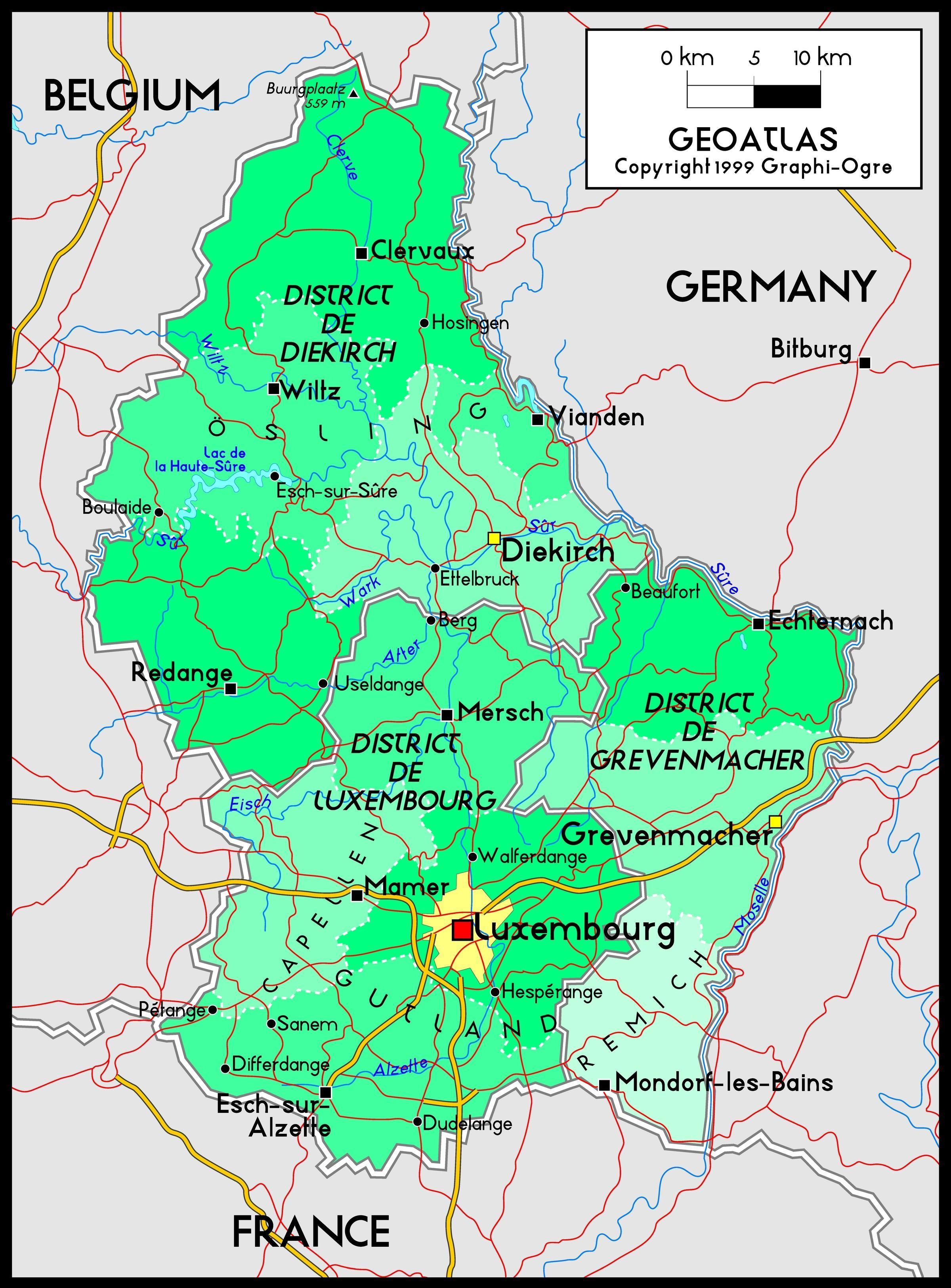 Luxembourg Hartă Luxembourg Hartă Locație Europa De Vest Europa
