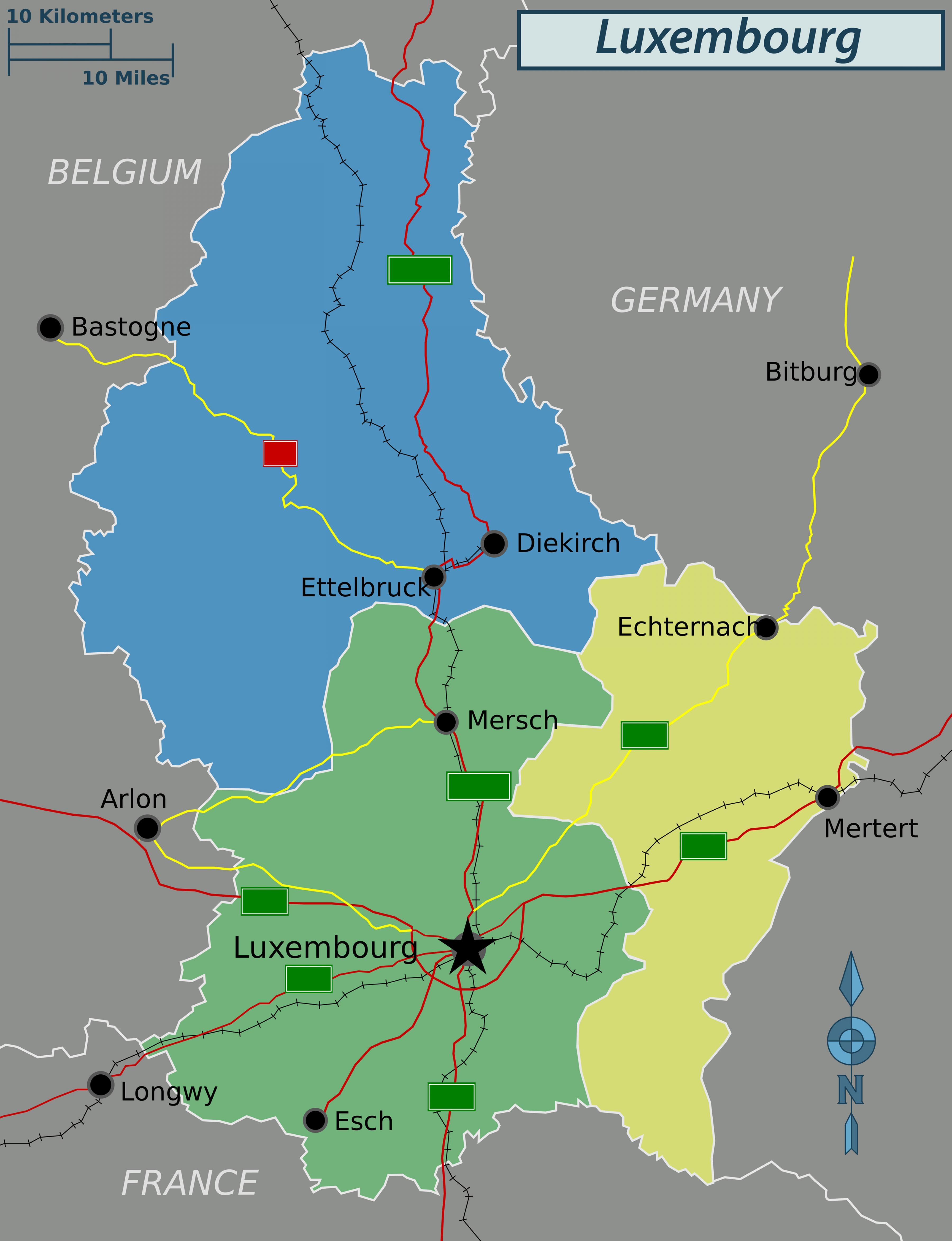 Luxemburg Politice Hartă Harta De Luxemburg Politice Europa De